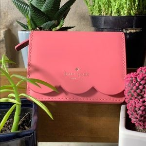 Kate Spade Wallet coral with keychain attached